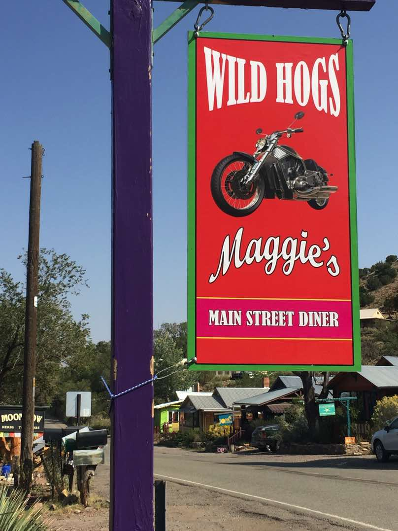 Maggie's Diner in Madrid, NM from the movie, WIld Hogs