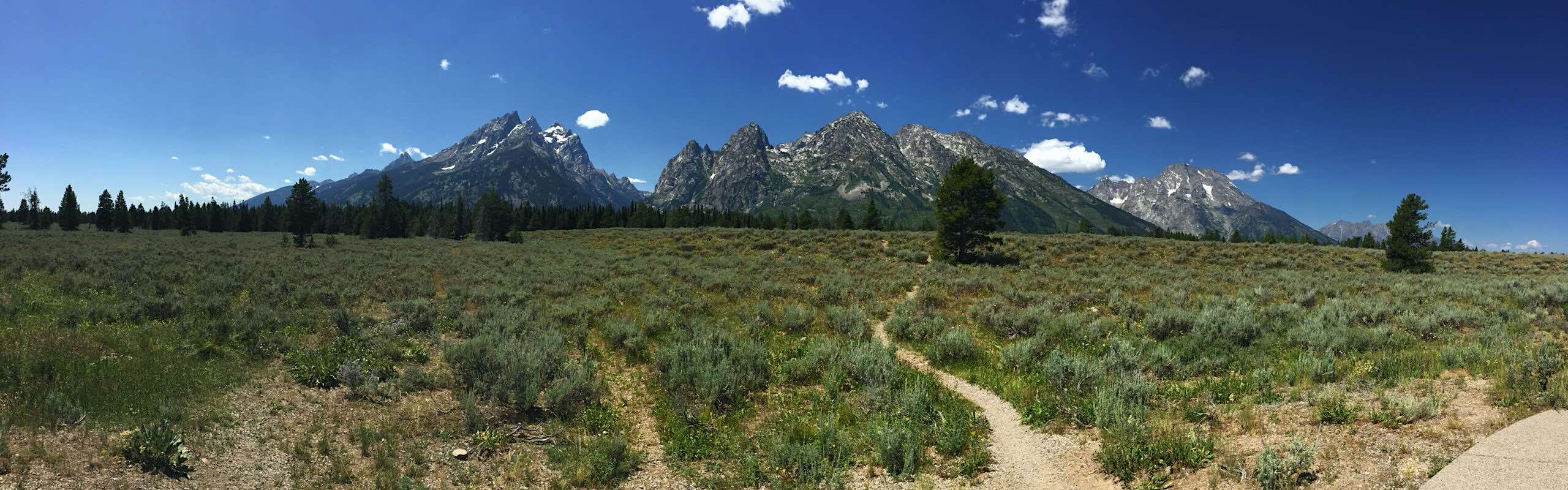 The Grand Tetons in Wyoming from our full-time RV lifestyle