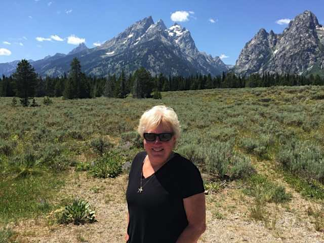 The Grand Tetons in Wyoming, living the full time RV dream