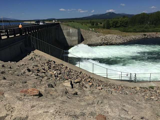 Jackson Lake Dam, On the road to Jackson Hole, Wyoming & the Grand Tetons from our full-time RV lifestyle