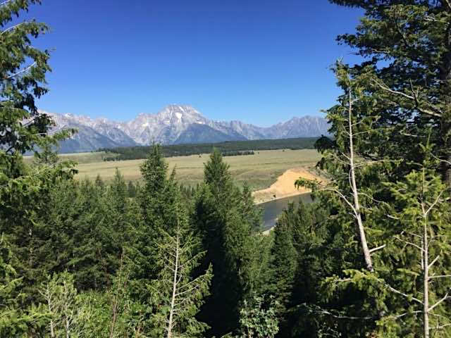 The Grand Tetons in Wyoming and Snake River, living the full time RV dream